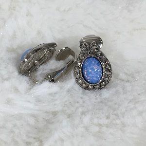 Jewelry - Clip on Galaxy stone earrings